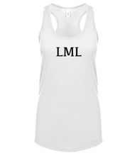 Load image into Gallery viewer, white LML racerback tank top for women