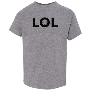grey LOL crewneck t shirt for toddlers