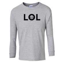 Load image into Gallery viewer, grey LOL youth long sleeve t shirt for boys