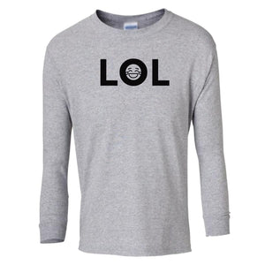 grey LOL youth long sleeve t shirt for boys