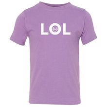 Load image into Gallery viewer, lavender LOL crewneck t shirt for toddlers