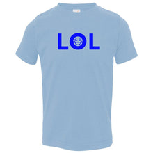 Load image into Gallery viewer, blue LOL crewneck t shirt for toddlers