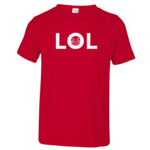 Load image into Gallery viewer, red LOL crewneck t shirt for toddlers