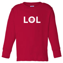 Load image into Gallery viewer, red LOL long sleeve t shirt for toddlers