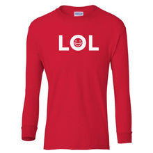 Load image into Gallery viewer, red LOL youth long sleeve t shirt for boys