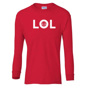 red LOL youth long sleeve t shirt for boys