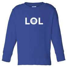 Load image into Gallery viewer, blue LOL long sleeve t shirt for toddlers
