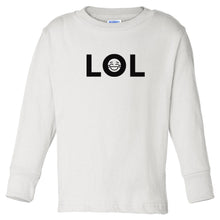 Load image into Gallery viewer, white LOL long sleeve t shirt for toddlers