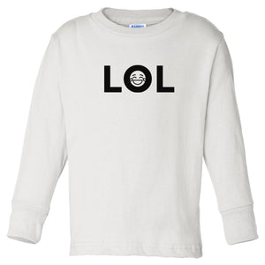 white LOL long sleeve t shirt for toddlers