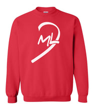 Load image into Gallery viewer, red LOML couples valentines day sweatshirt