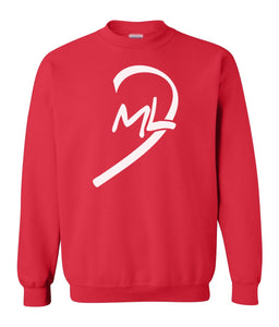 red LOML couples valentines day sweatshirt