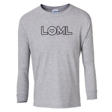 Load image into Gallery viewer, grey LOML youth long sleeve t shirt for girls