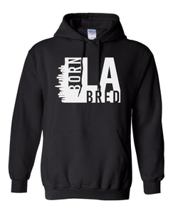 black Los Angeles born and bred hoodie