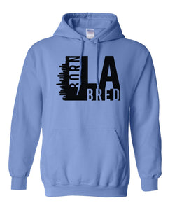 blue Los Angeles born and bred hoodie