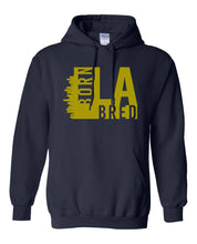 Load image into Gallery viewer, navy Los Angeles born and bred hoodie