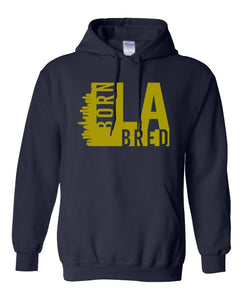 navy Los Angeles born and bred hoodie