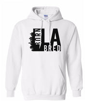 Load image into Gallery viewer, white Los Angeles born and bred hoodie