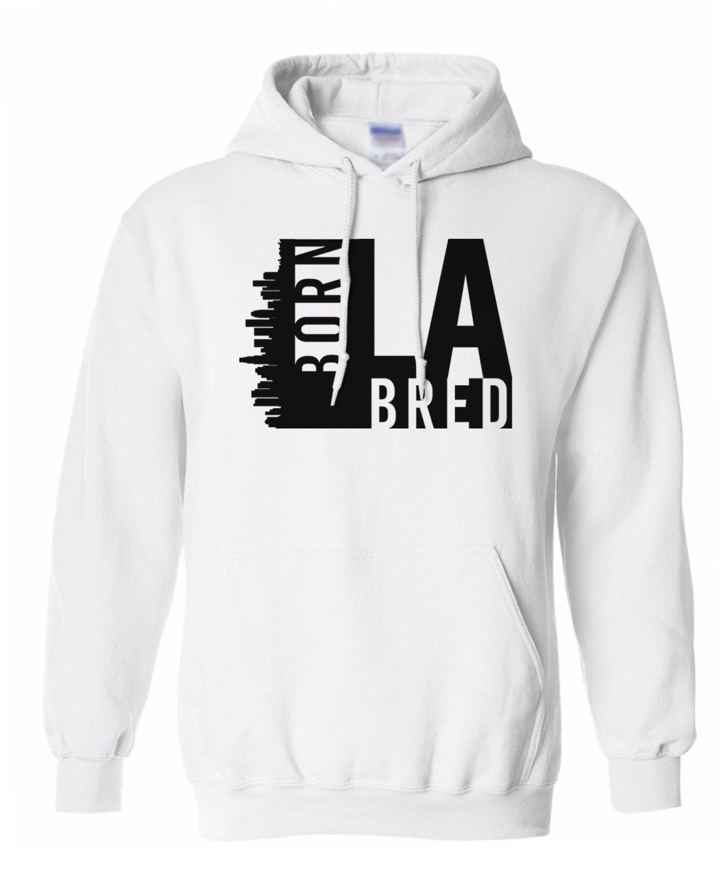 white Los Angeles born and bred hoodie