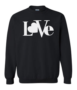 black love valentines day sweatshirt