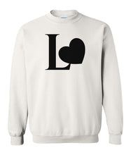 Load image into Gallery viewer, white Love couples valentines day sweatshirt
