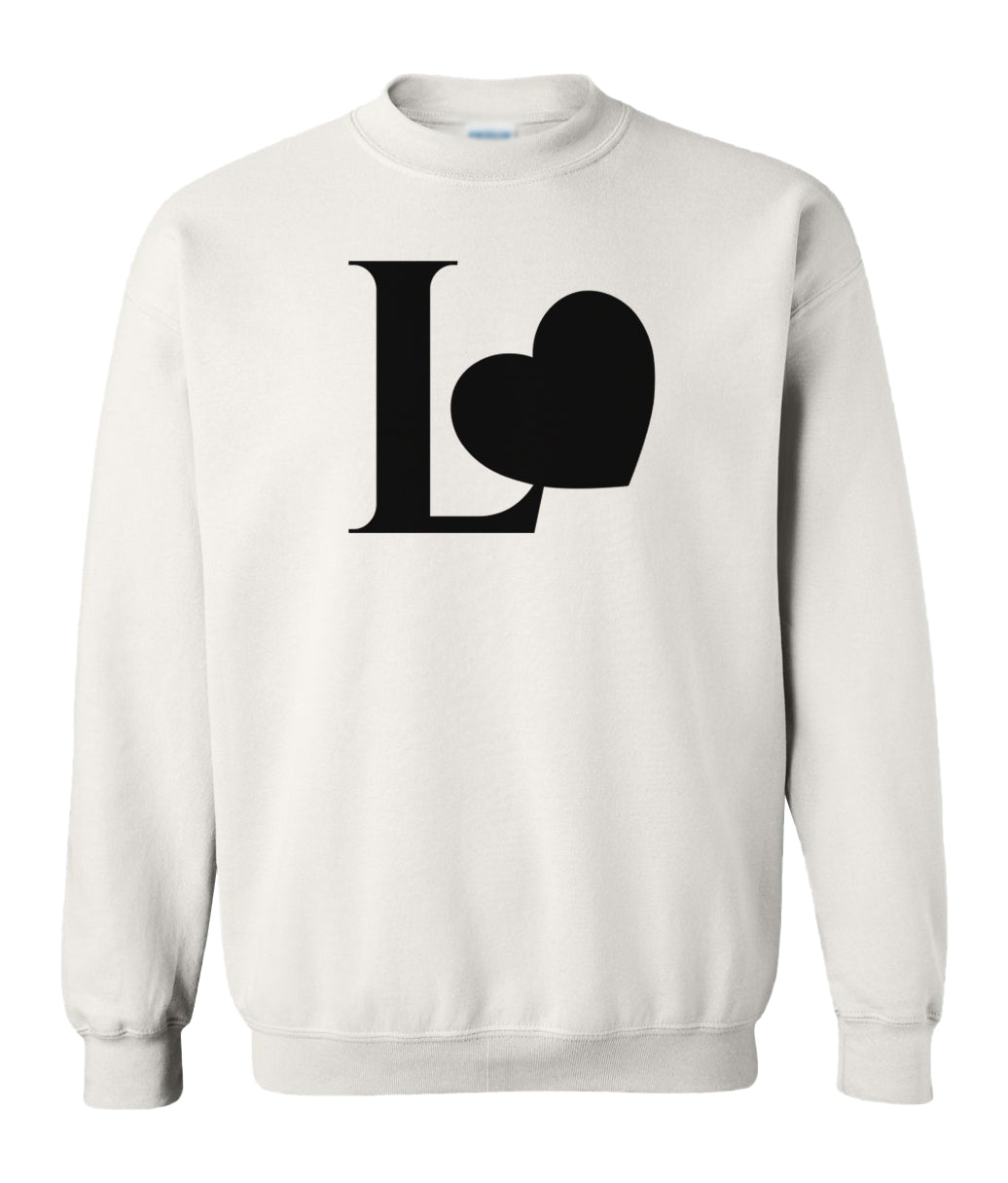 white Love couples valentines day sweatshirt