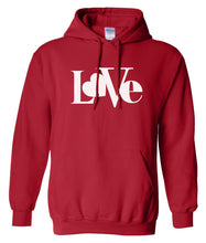Load image into Gallery viewer, red love valentines day hoodie