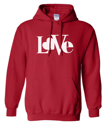 red love valentines day hoodie