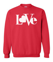 Load image into Gallery viewer, red love valentines day sweatshirt