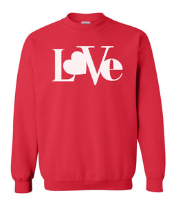 red love valentines day sweatshirt