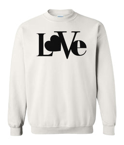 white love valentines day sweatshirt