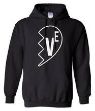 Load image into Gallery viewer, black Love matching couples valentines day hoodie