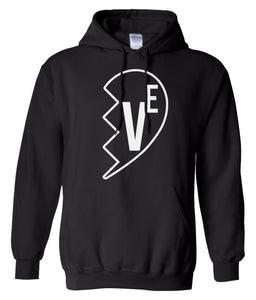 black Love matching couples valentines day hoodie