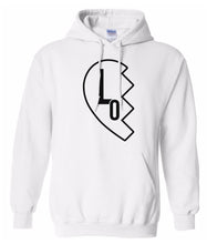 Load image into Gallery viewer, white Love matching couples valentines day hoodie