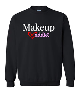 black makeup addict sweatshirt