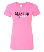 Load image into Gallery viewer, hot pink makeup addict crewneck women's t shirt