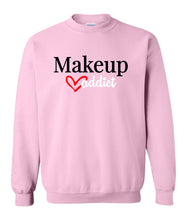 Load image into Gallery viewer, pink makeup addict sweatshirt