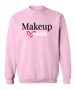 pink makeup addict sweatshirt