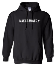 Load image into Gallery viewer, black making moves pullover hoodie