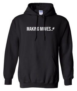 black making moves pullover hoodie