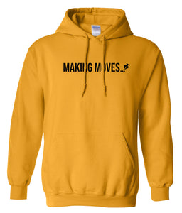 yellow making moves pullover hoodie