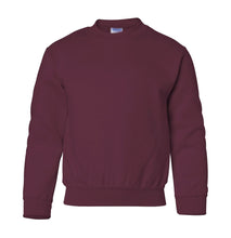 Load image into Gallery viewer, maroon youth crewneck sweatshirt