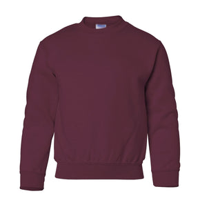 maroon youth crewneck sweatshirt