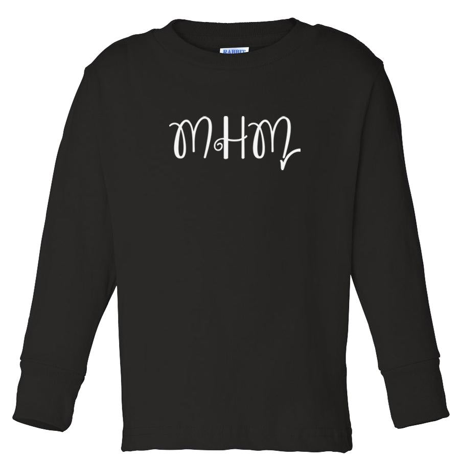 black MHM long sleeve t shirt for toddlers