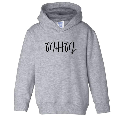 grey MHM hooded sweatshirt for toddlers
