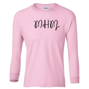 pink MHM youth long sleeve t shirt for girls
