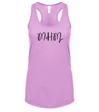 Load image into Gallery viewer, pink MHM racerback tank top for women