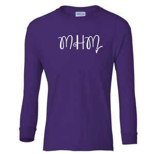 purple MHM youth long sleeve t shirt for girls
