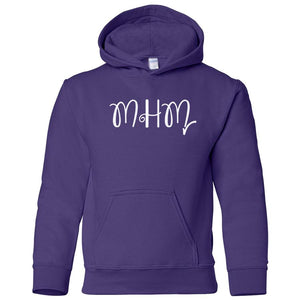 purple MHM youth hooded sweatshirts for girls