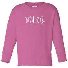 Load image into Gallery viewer, pink MHM long sleeve t shirt for toddlers