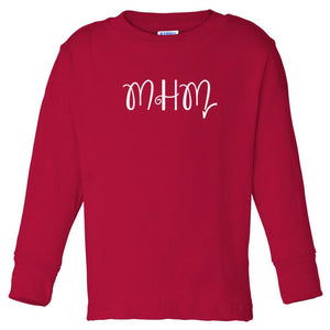 red MHM long sleeve t shirt for toddlers